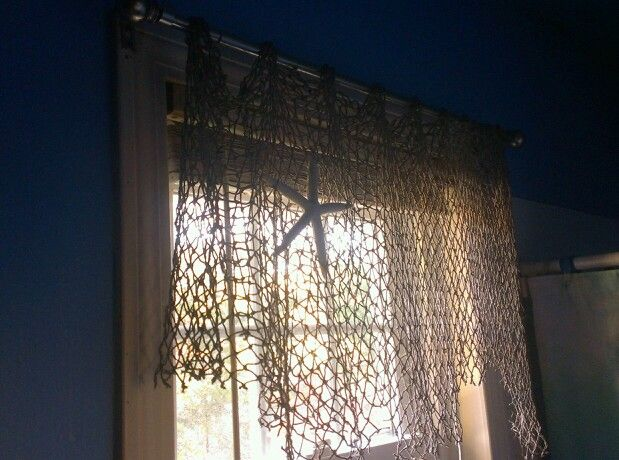 Fishing Net As A Curtain Decor I Ve Done Pinterest
