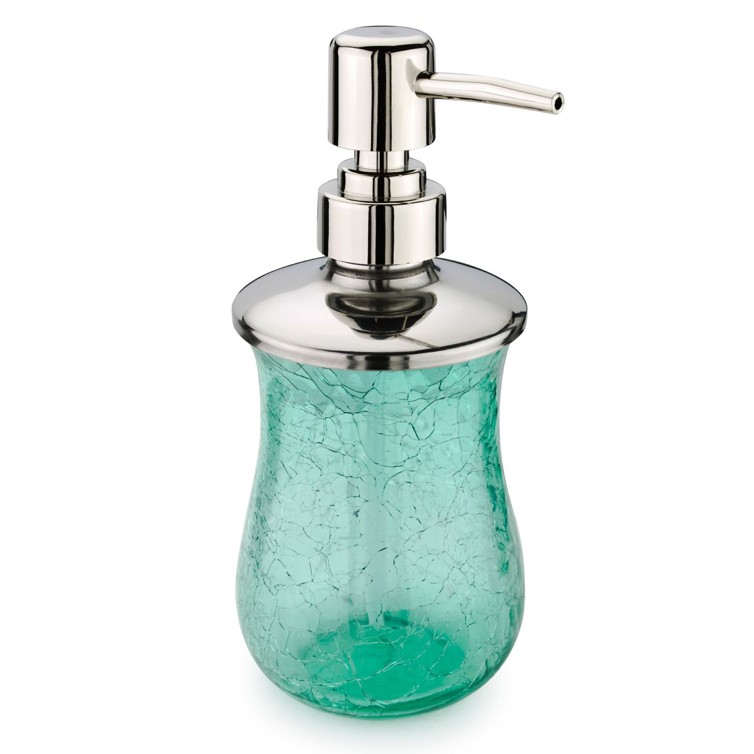 Buy the Hanima Green Crackle Glass Bathroom Lotion Bottle at The ...