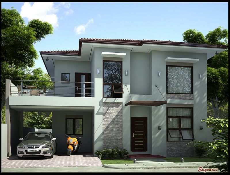 Simple modern house exterior interior design for Simple house exterior design