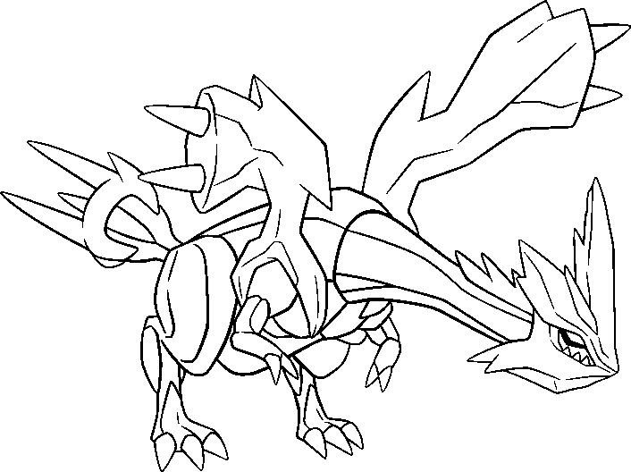 Pokemon Coloring Pages Kyurem Create