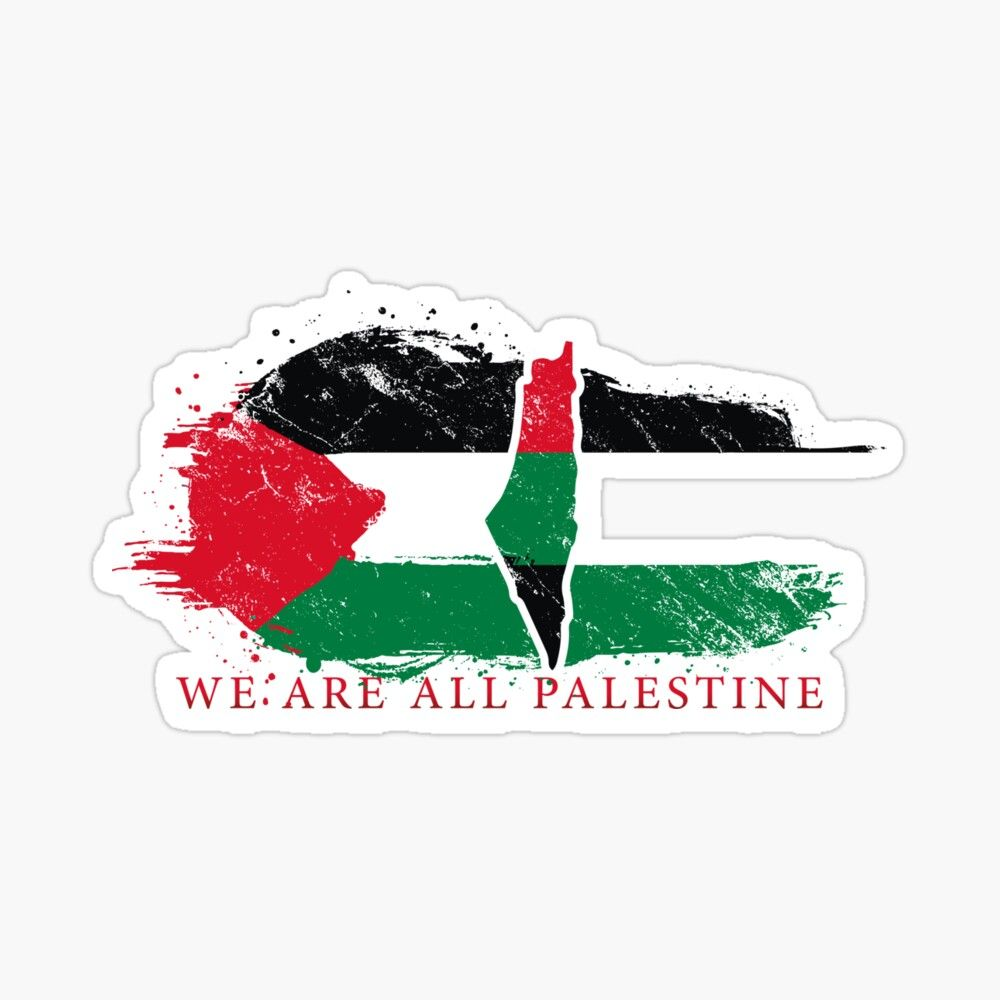 Get My Art Printed On Awesome Products Support Me At Redbubble Rbandme Https Www Redbubble Com I Sticker We Are All Palestin Palestine Stickers Art Prints