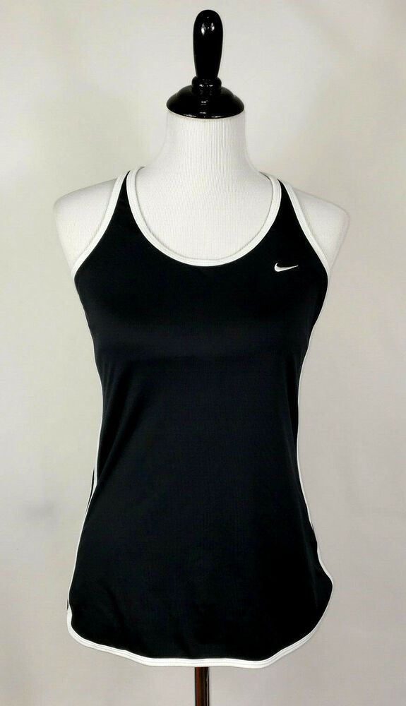 21cfc4f8d3ced Nike Performance Dri-Fit Womens M Black Built-in Bra Racerback AthleticTank  Top  Nike  TankTop