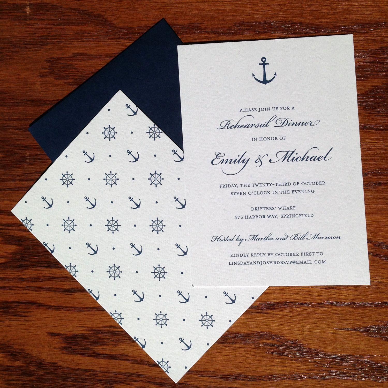 New to VeronicaFoleyDesign on Etsy: Nautical Wedding Rehearsal ...
