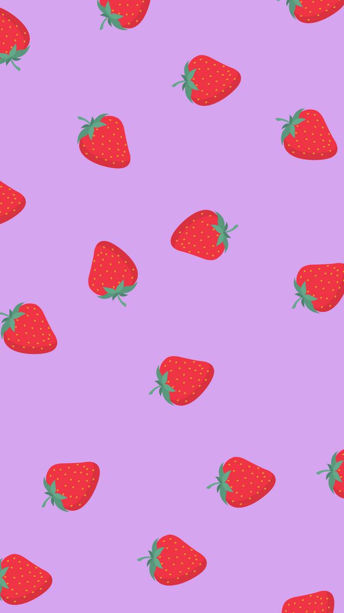 Wallpaper with strawberries / Fondo de pantalla con fresas.