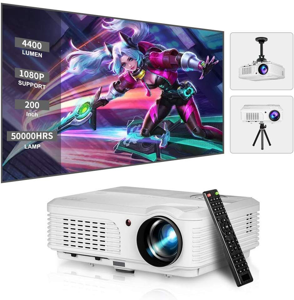 4600 Lumen LED HD Bluetooth Projector Home