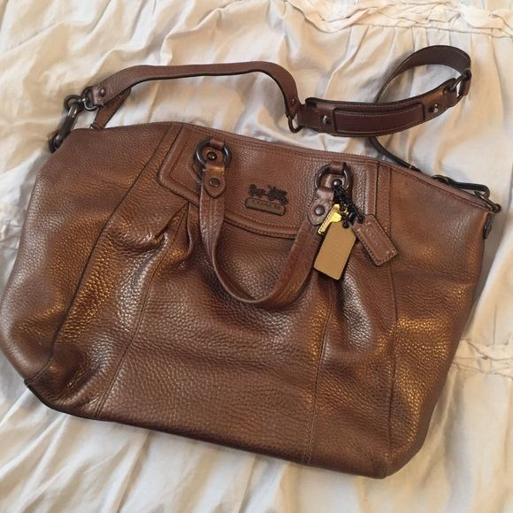 Bronze Coach shoulder bag gently used Coach Bags Shoulder Bags ... d25f6e50e83f7