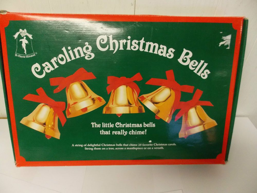 Merrie Minstrel Caroling Christmas Bells with Music Module plays ...