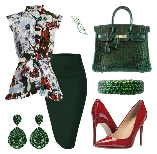Making Big Moves At The Meeting by flybeyondtheskies on Polyvore featuring  Erdem, Hermès