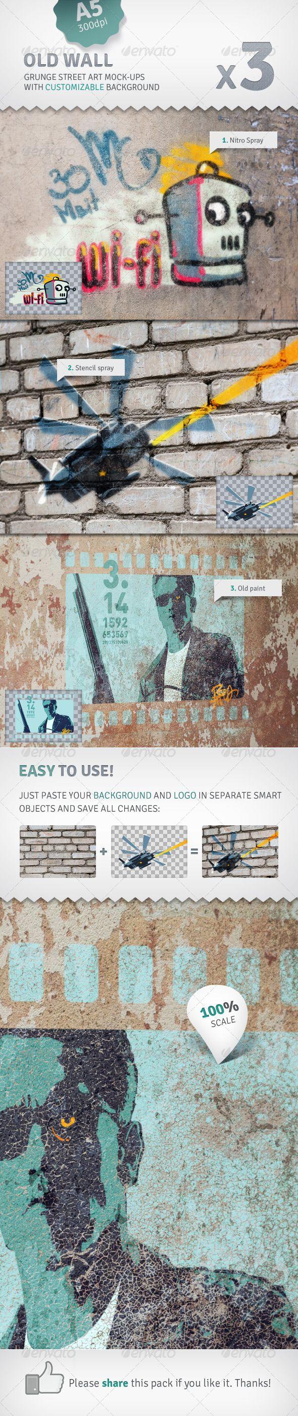 Graffiti wall rubric - Wall 3 Graffiti Street Art Mockups