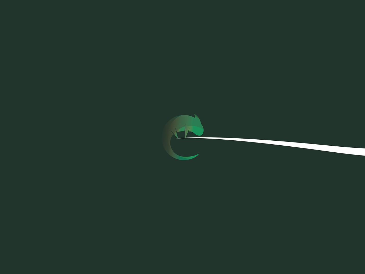How to draw an animal's logo. Adobe Illustrator. Chameleon.