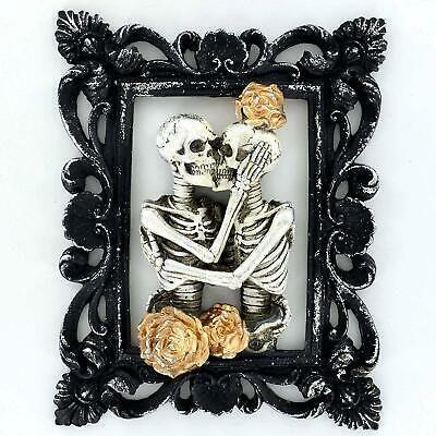 Photo of Details about Skeleton Lovers Figure Portrait Gothic Style Ornament Decoration