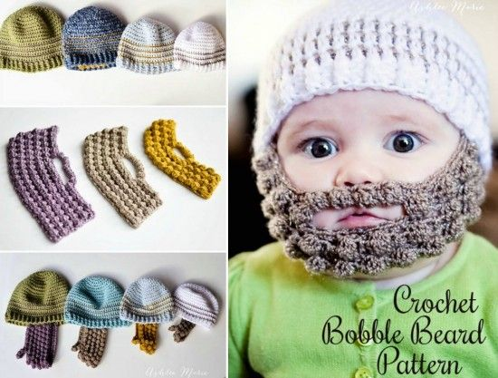 Bobble Beard Crochet Hat Pattern Easy Video Instructions Beard