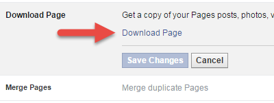 How to download your facebook page data (sikkerhedskopi af indhold på fb-side)