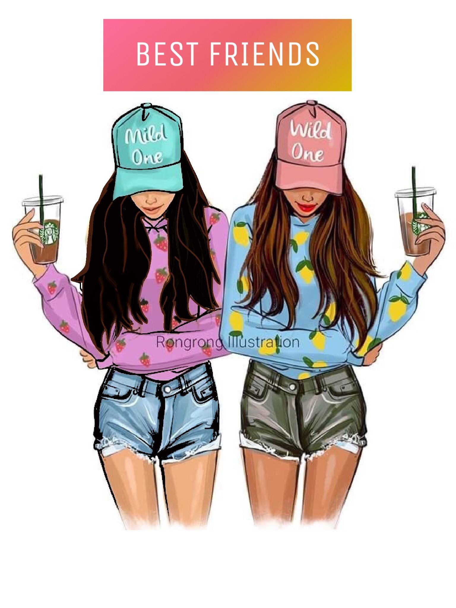 Pin By Henan Hamza On Bday With Images Bff Drawings Drawings