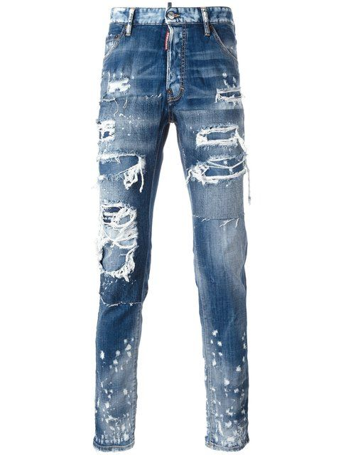 6a617e6ffcb7 DSQUARED2 Cool Guy Distressed Spot Jeans.  dsquared2  cloth  jeans ...