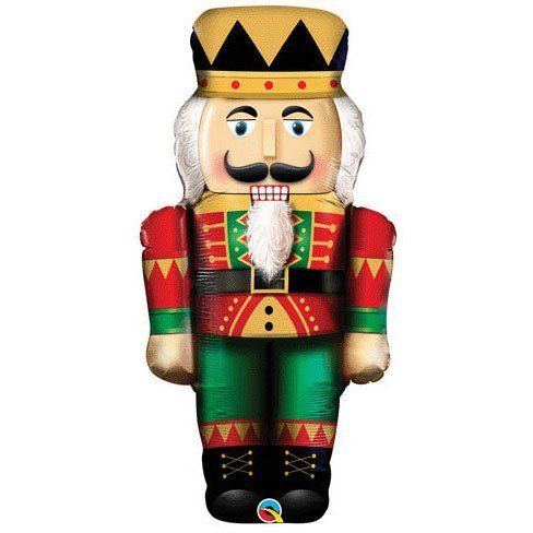 "Red & Green Christmas Nutcracker 33"" Mylar Balloon by Qualatex. $4.78. Not Packaged"