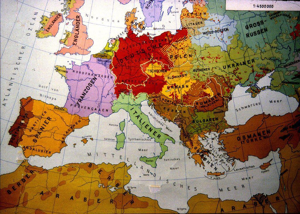 European Ethnic Map 1914 Map Europe Interesting Maps Pinterest