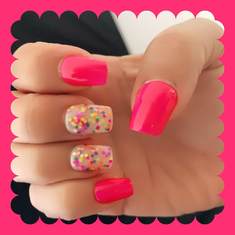 Neon Glitter Nail Polish Pink Orange Blue Yellow Polish: | Etsy