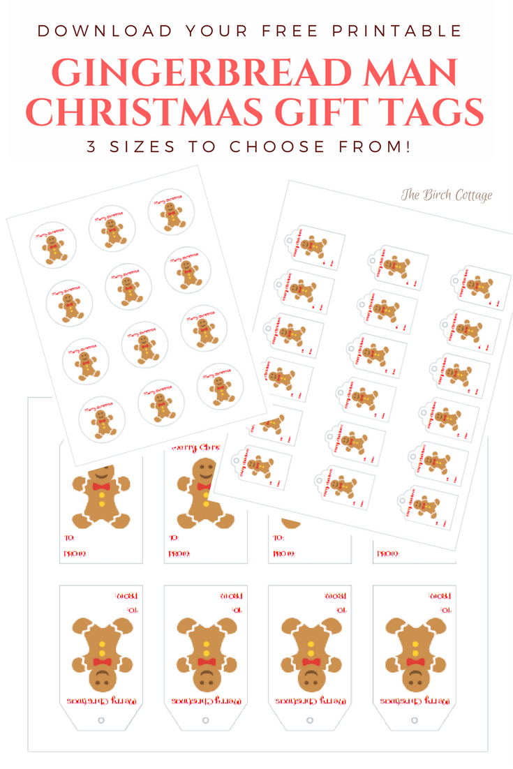 Gingerbread Man Christmas Gift Tags A Gift For Pauline The Birch Cottage Gingerbread Man Gift Free Christmas Tags Printable Free Christmas Tags