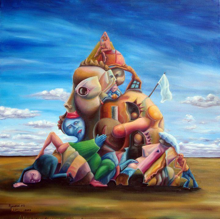 Pyramid 2009 - Alex Lavrov's Artworks - Paintings & Prints People & Figures Other… | ArtPal thumbnail