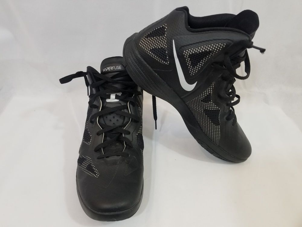 online store 3579b 7d014 NIKE ZOOM HYPERFUSE Hi high Top 2011 TB SHOES BLACK   WHITE retro sports  size 14  Nike  BasketballShoes