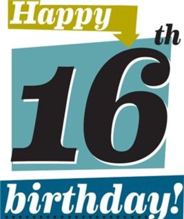 Happy 16th Birthday For Young Man Happy 16th Birthday 16th