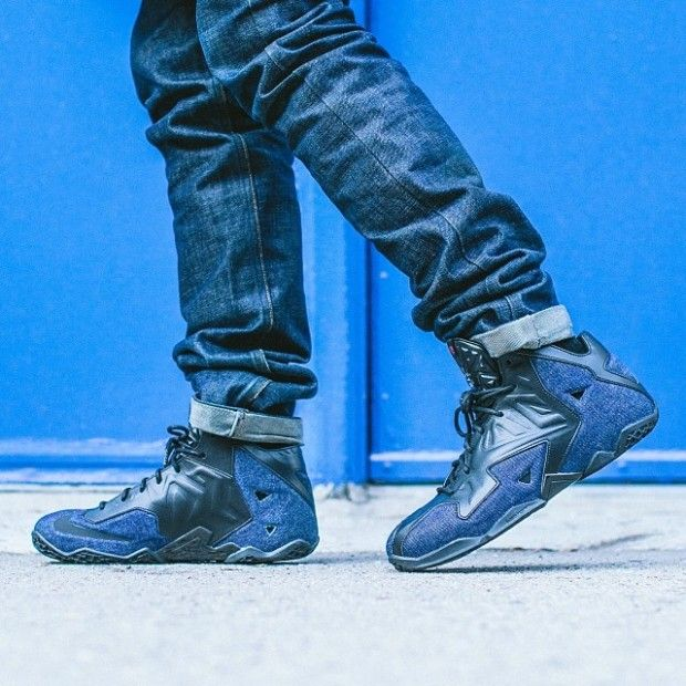 size 40 d52a4 fe1f7 Nike-LeBron-11-EXT-Denim-1