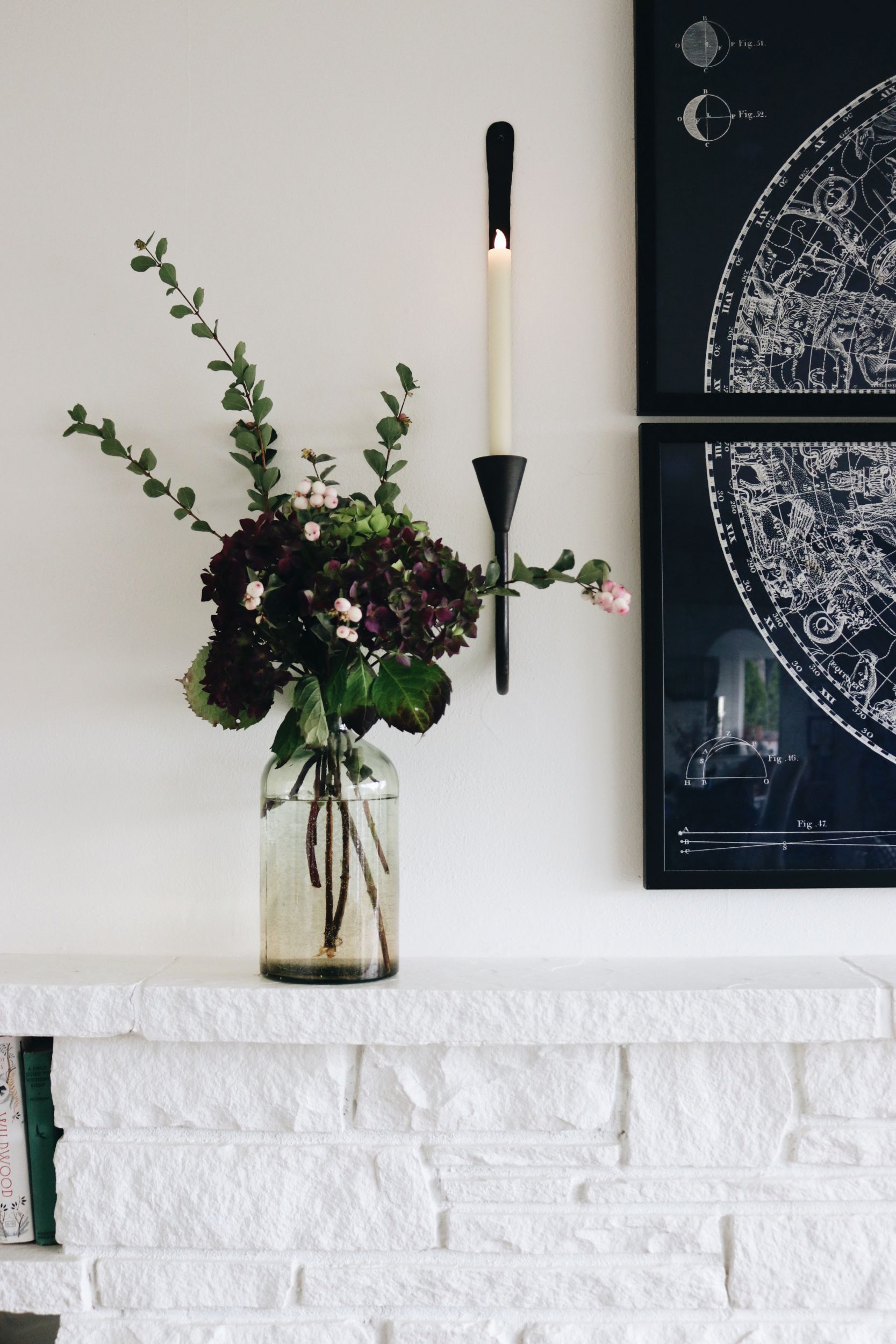 Charming Inexpensive Decorating: Non-Electric Wall Lights ... on Non Electric Wall Sconces For Candles id=85143
