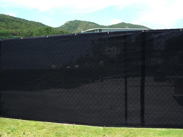 6 39 x 50 39 black fence privacy screen shade cloth 85 shade for Cloth privacy screen