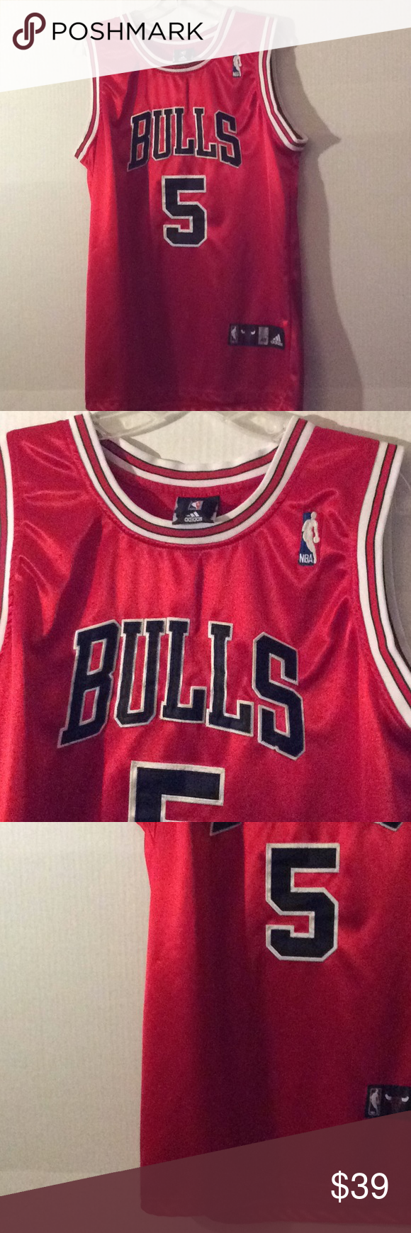 Adidas NBA Red Chicago Bulls Boozer 5 jersey 48L