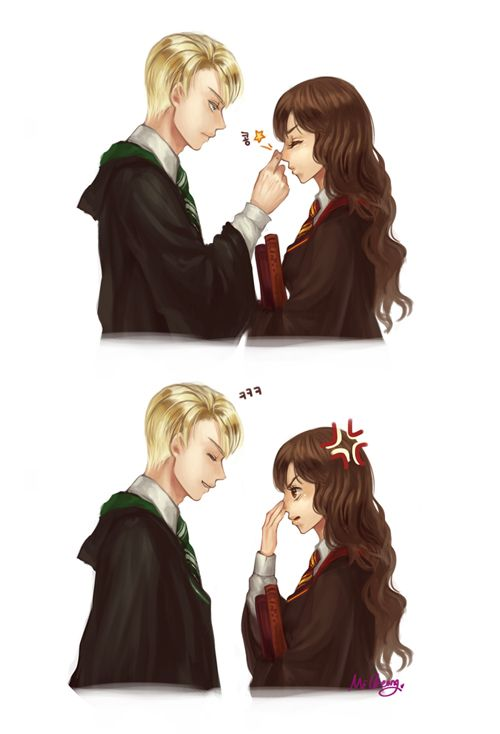 Draco x Hermione by MiCheong on DeviantArt | Harry potter fan art, Harry  potter anime, Harry potter