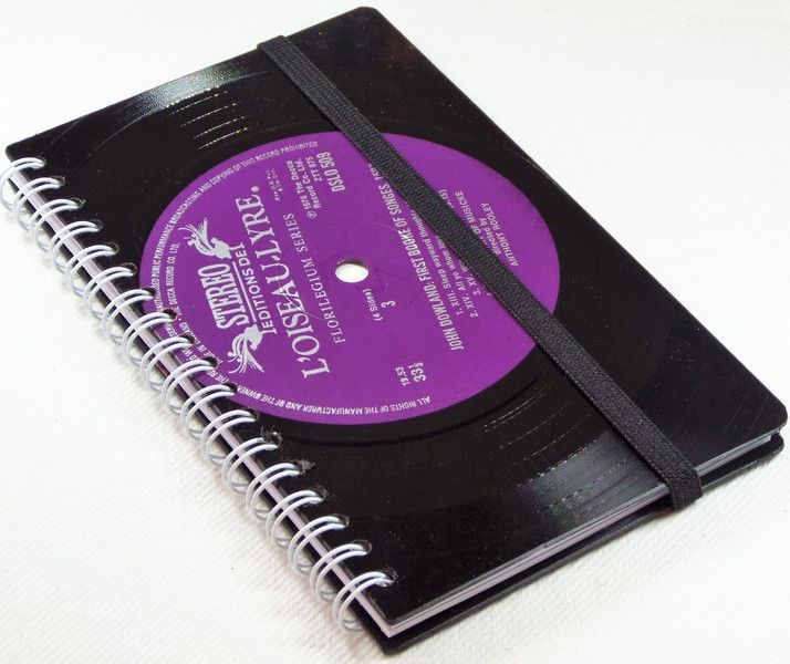 DIN A6 - Taschenkalender aus Schallplatte - ein Designerstück von Aurum bei DaWanda
