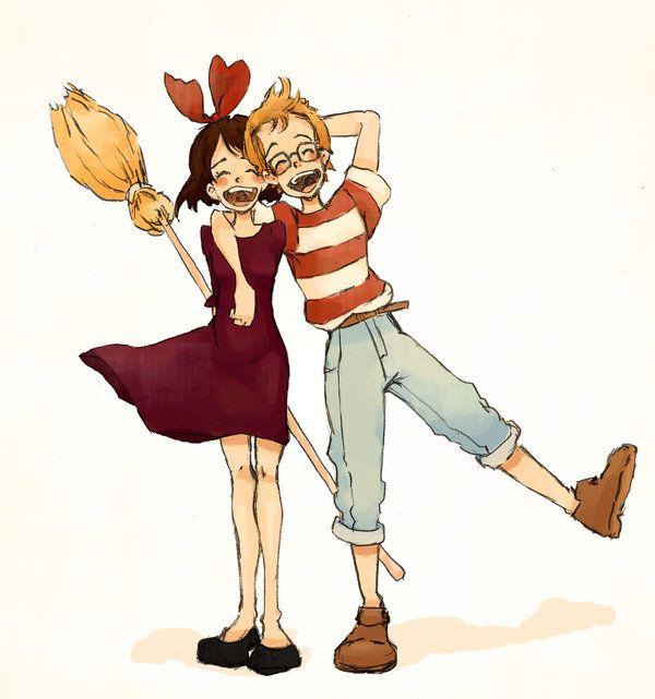 Kiki and Tombo by ~MadLibbs on deviantART