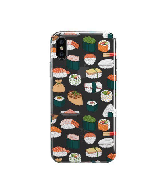 a6a44e56f0 Proctective Sushi Clear iPhone case.iPhone 8 Plus case.iPhone X case.iPhone  XS MAX case.iPhone XR ca