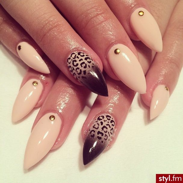 would do nude cheetah print on black tip (inverted)