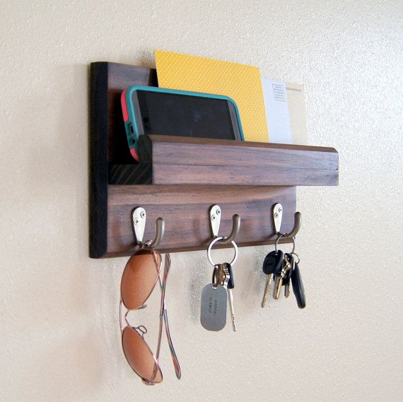 Key Hooks Mail Storage Coat Hooks Key Rack Mail Holder Key Holder Diy Key Rack Mail And Key Holder