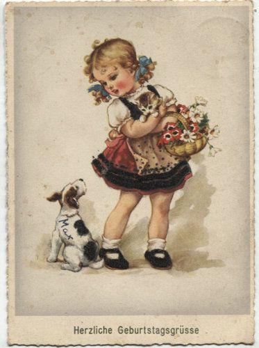 Alte postkarte herzliche geburtstagsgr sse ebay for Vintage geburtskarten
