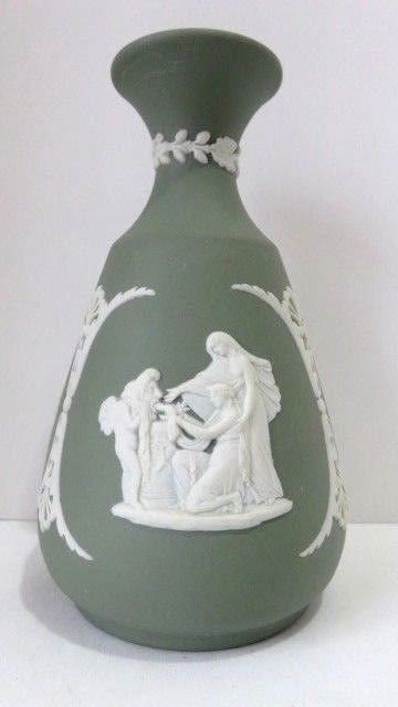 Wedgewood Budflower Vase Sage Green 5 Tall Jasper Made In England