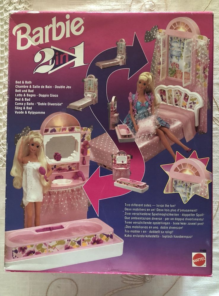 Terrific 1993 Barbie Mattel 2 In 1 Bed Bath New And Sealed Download Free Architecture Designs Rallybritishbridgeorg
