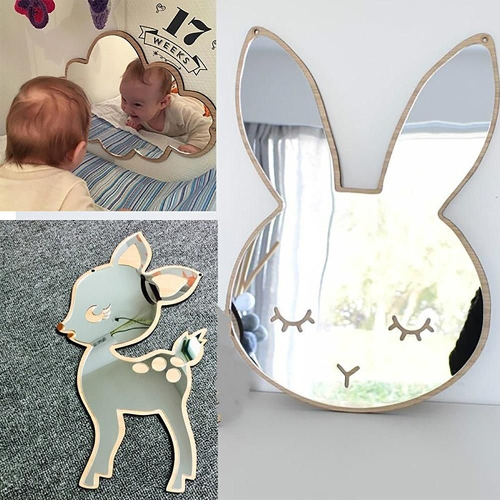 Adorable Figurine Shaped Mirror Wall Decor Bebek Odası