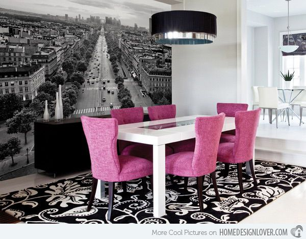 20 Conventional Dining Rooms With Wallpaper Murals