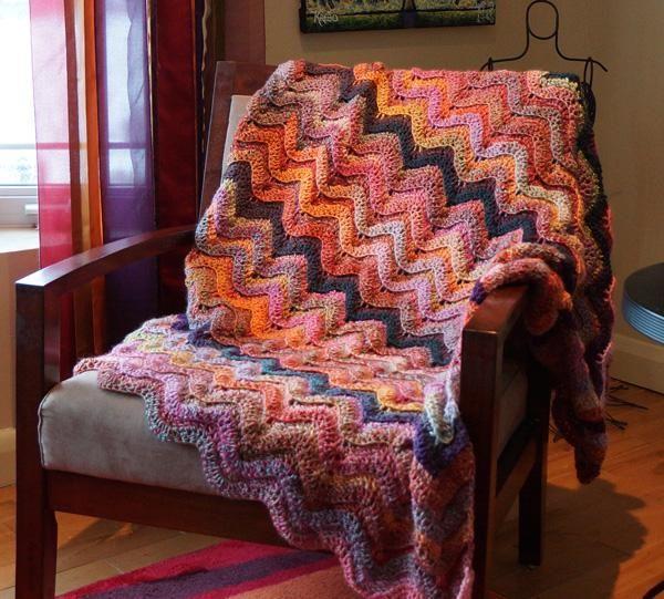 Treasure Waves Afghan | crochet | Pinterest | Cobija, Frazada y La ...