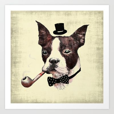 Mr. Bulldog Art Print by dogooder - $14.04