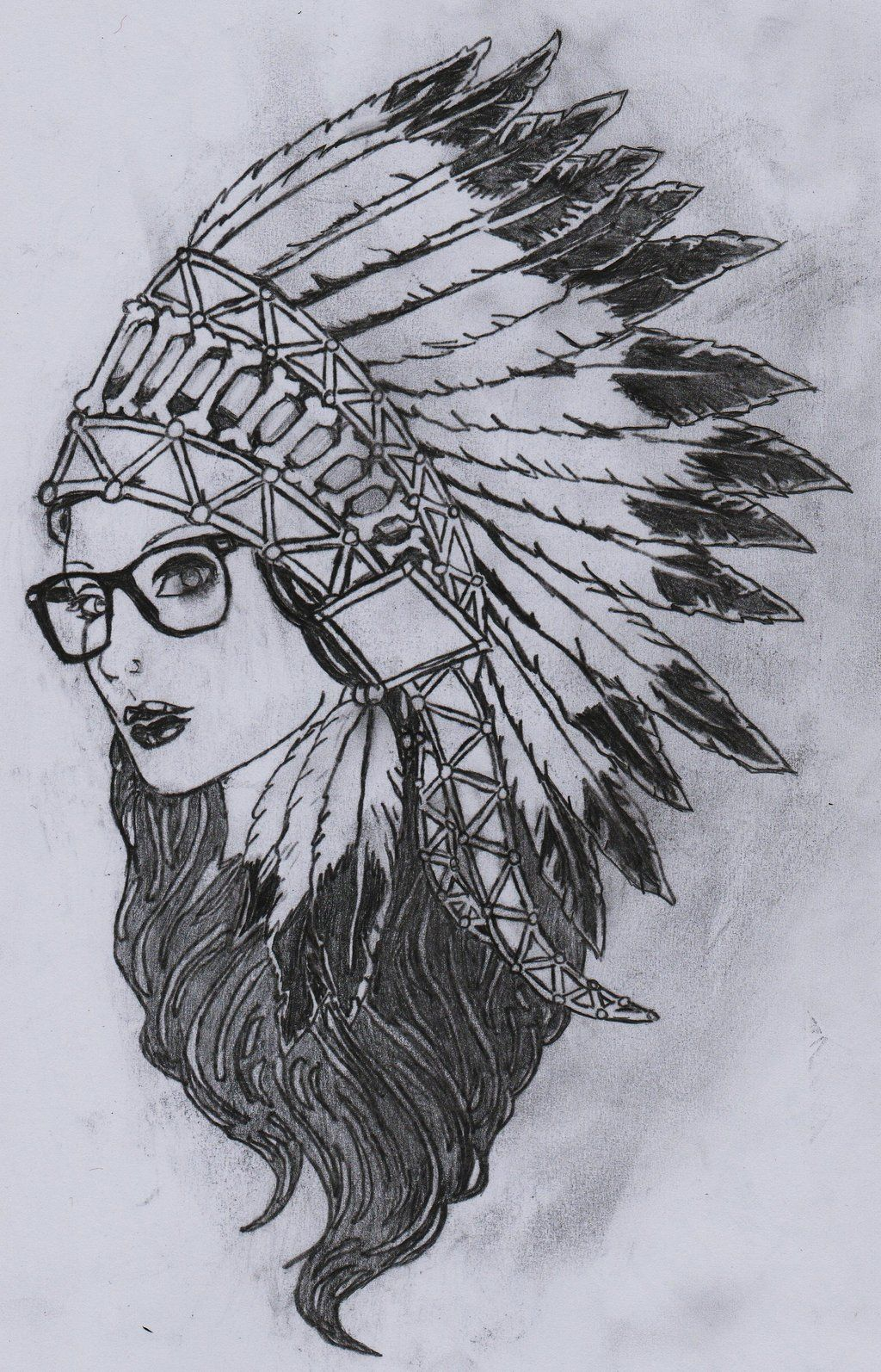 Uncategorized Indian Drawing images for girl with indian headdress drawing tattoos drawing