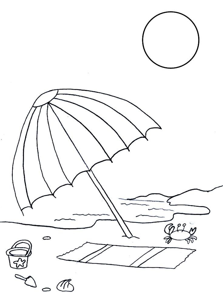 Free Printable Summer Coloring Pages For Kids Summer Coloring Pages Beach Coloring Pages Umbrella Coloring Page