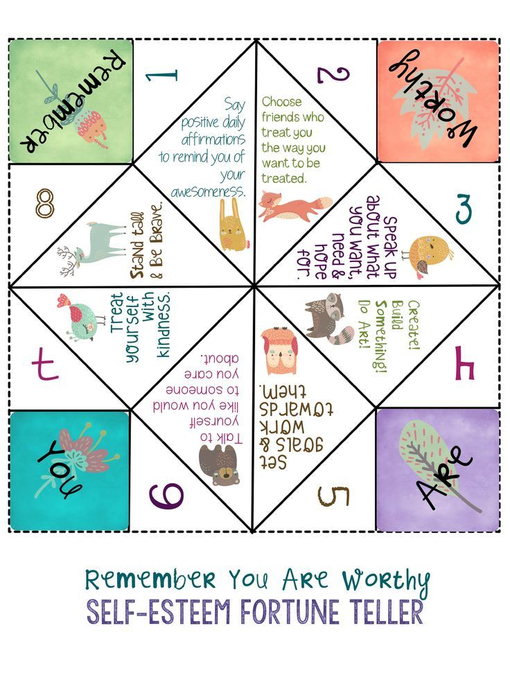 SELF-ESTEEM: School Counseling Game & Lesson *50 Ways to ...