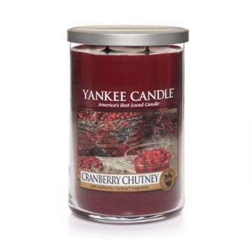 Yankee Candle Company Large Tumbler 2-wick Cranberry Chutney Candle. My favorite candle scent!