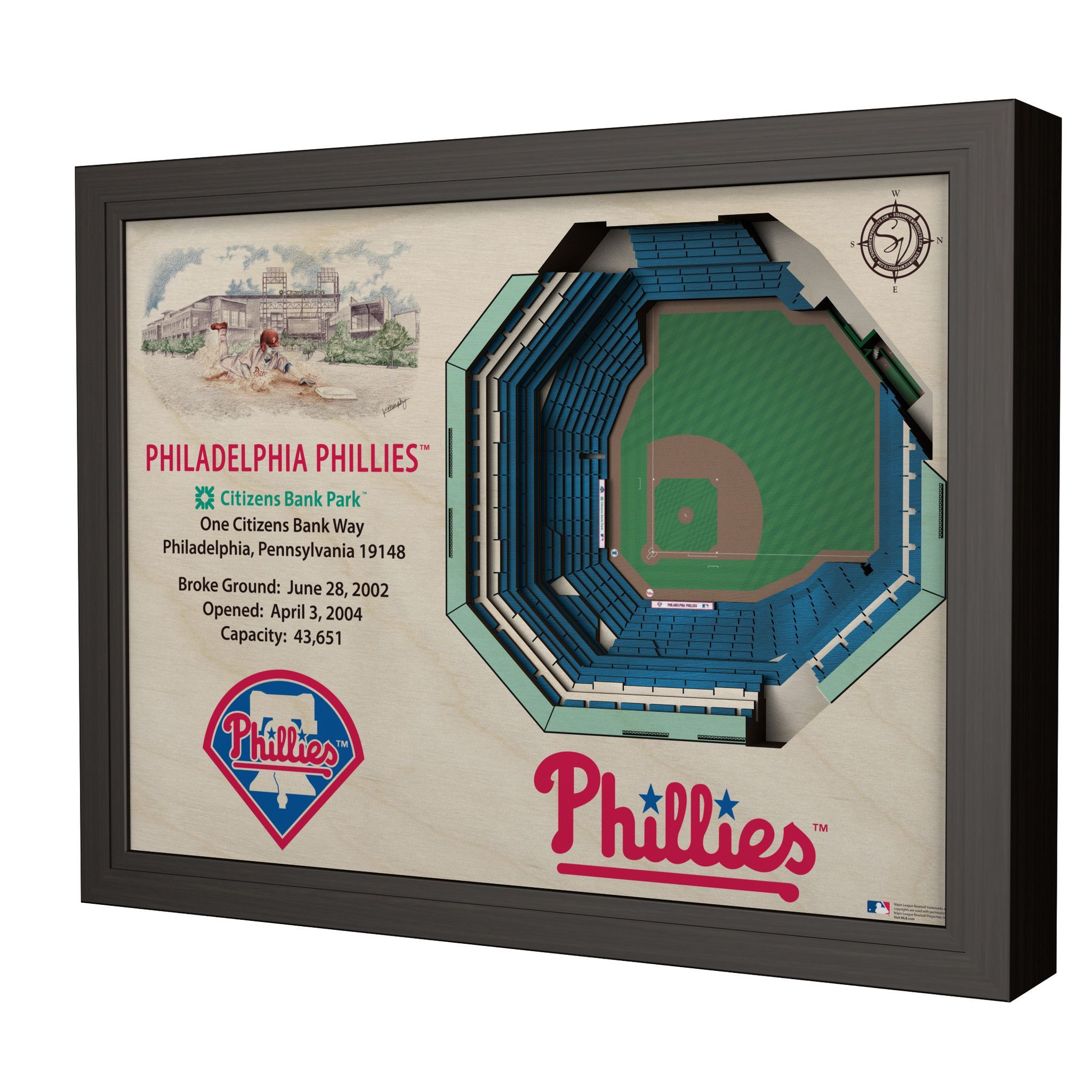 Philadelphia Phillies Citizens Bank Park Stadium 3D View