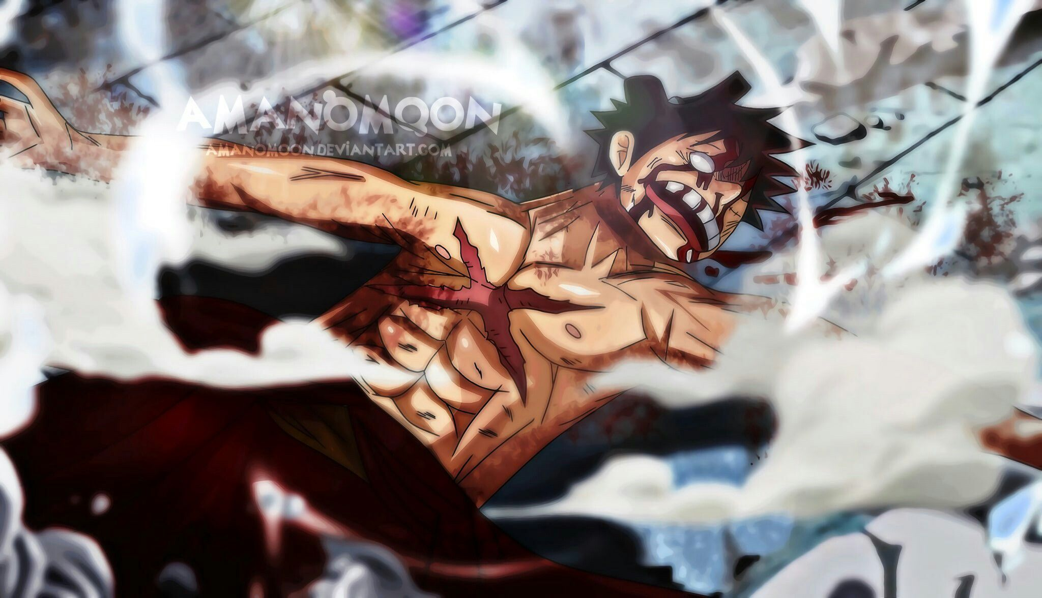 Luffy After Fighting Kaido One Piece Manga One Piece