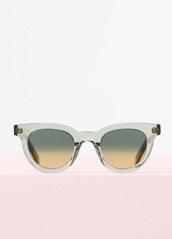 b2896d26279 Anna Sunglasses in Transparent Smoke Acetate with Blue and Yellow Shaded  Lenses - Céline